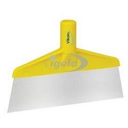 Floor scraper Polypropylene, Stainless Steel Sheet 260x30x175mm Visual Sheet Length Is 70mm Yellow