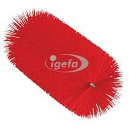 Pipe Brush For Flexible Cable with Polyester Fibers, Medium ø60x200mm, Medium Red