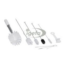 Brush Kit Sundae - IJsmachine Set Van 9 Speciale Borstels Wit