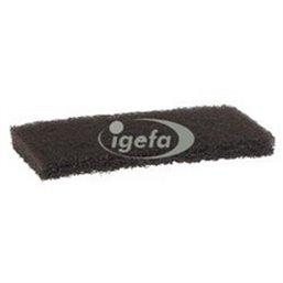 Sanding pad Nylon, 245x125x30mm Hard Brown