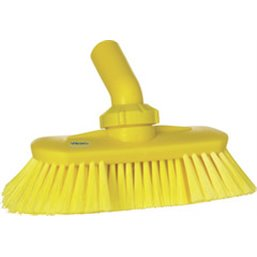 Angle adjustable Brush With Water supply Polyester Fiber, Switht, Cloven 240x130x145mm Yellow