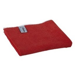 Micrwithibre cloth Basic 40 80% Polyester, 20% Polyamide 400x400mm Red
