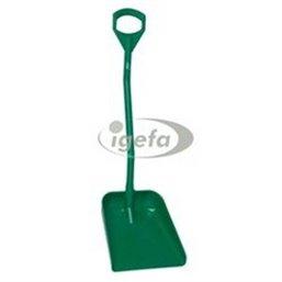 Ergonomic Shovel, Large Blade Polypropylene Height 1140mm Large 380x340x90mm Green