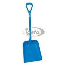 Lightweight Shovel D-handle, Short Helve Polypropylene Height 1035mm Large Deep Blade (379x345x90mm) Blue