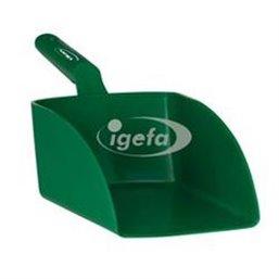 Straight Hand shovel, Big, 2 Liter Polypropylene 160x370x130mm Green