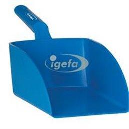 Straight Hand shovel, Big, 2 Liter Polypropylene 160x370x130mm Blue