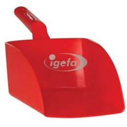 Straight Hand shovel, Big, 2 Liter Polypropylene 160x370x130mm Red