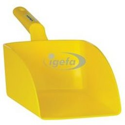 Straight Hand shovel, Big, 2 Liter Polypropylene 160x370x130mm Yellow