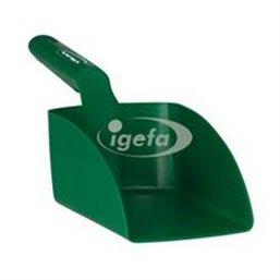 Straight Hand shovel, Medium, 1 Liter Polypropylene 340x120x110mm Green