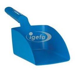 Straight Hand shovel, Medium, 1 Liter Polypropylene 340x120x110mm Blue