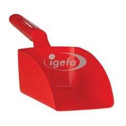 Straight Hand shovel, Medium, 1 Liter Polypropylene 340x120x110mm Red