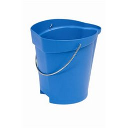 Bucket 12 Liter Polypropylene and Stainless steel 325x330x330mm Also see Bucket Lid 5687 and Wall holder 16200 Blue