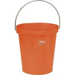 Emmer 12 Liter Van Polypropyleen En Roestvrij Staal 325x330x330mm Oranje