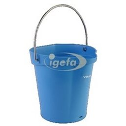 Bucket 6 Liter Polypropylene and Stainless steel 260x270x258mm Also see Bucket Lid 5689 and Wall holder 16200 Blue
