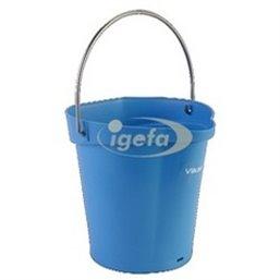 Emmer 6 Liter Van Polypropyleen En Roestvrij Staal 260x270x258mm Blauw