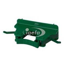 Full Colour Ophangsysteem Voor 1-3 Producten Met 2 Haken En 1 Flexibele Rubber Klem 160x80x60mm Groen