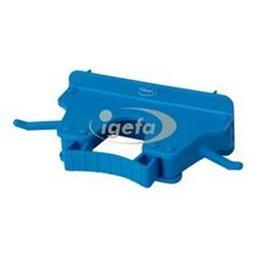 Full Colour Ophangsysteem Voor 1-3 Producten Met 2 Haken En 1 Flexibele Rubber Klem 160x80x60mm Blauw