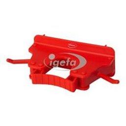 Full Colour Ophangsysteem Voor 1-3 Producten Met 2 Haken En 1 Flexibele Rubber Klem 160x80x60mm Rood