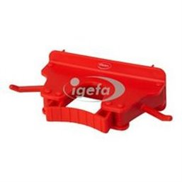 Full Colour Suspension system 1-3 Products 2 Hooks, 1 Flexible Rubber Clamp 160x80x60mm Red
