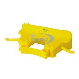 Full Colour Ophangsysteem Voor 1-3 Producten Met 2 Haken En 1 Flexibele Rubber Klem 160x80x60mm Geel