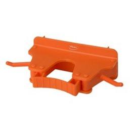 Full Colour Ophangsysteem Voor 1-3 Producten Met 2 Haken En 1 Flexibele Rubber Klem 160x80x60mm Oranje