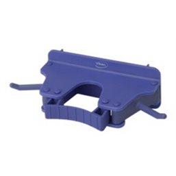 Full Colour Ophangsysteem Voor 1-3 Producten Met 2 Haken En 1 Flexibele Rubber Klem 160x80x60mm Paars