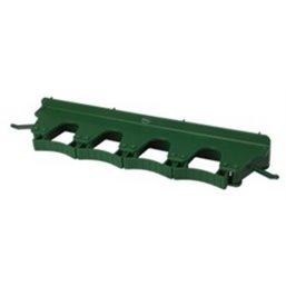 Full Colour Ophangsysteem Voor 4-6 Producten Met 2 Haken En 4 Flexibele Rubber Klemmen 395x80x60mm Groen