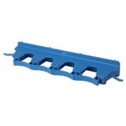 Full Colour Ophangsysteem Voor 4-6 Producten Met 2 Haken En 4 Flexibele Rubber Klemmen 395x80x60mm Blauw