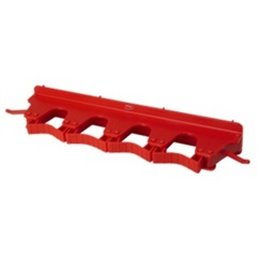 Full Colour Suspension system 4-6 Products 2 Hooks, 4 Flexible Rubber Clamps 395x80x60mm Red
