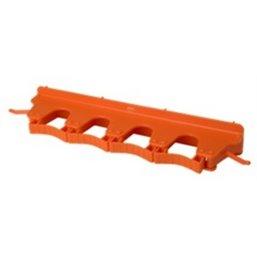 Full Colour Ophangsysteem Voor 4-6 Producten Met 2 Haken En 4 Flexibele Rubber Klemmen 395x80x60mm Oranje