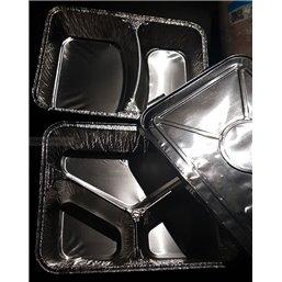 Aluminium Lid Voor Menu tray 1-2-3 Compartment