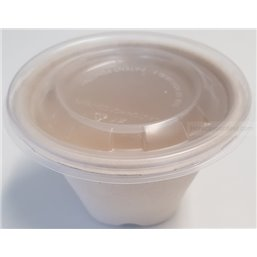 Lids Round for BePulp Containers - Bins R-pet 130mm