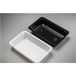Snack Tray A10 340cc PS Black 150x95x30mm