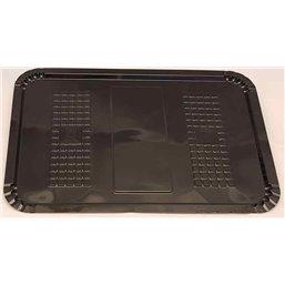 Meat Tray 16x22cm With Pane Black Plastic Hero