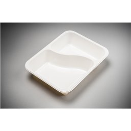 Meal containers - Bins M45-2-compartments MF® white