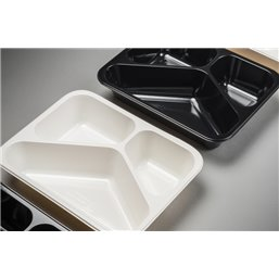 Meal containers - Bins M45-3-compartments MF® white