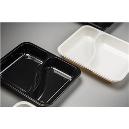 Meal containers - Bins M33-2-compartments MF® white