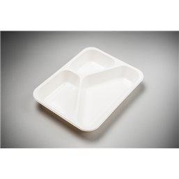 Meal containers - Bins M33-3-compartments MF® white