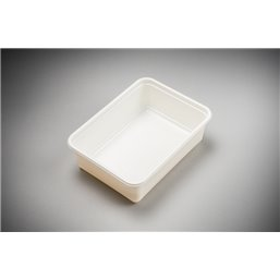 Meal containers - Bins 1000cc Microw.~Freeze*® White
