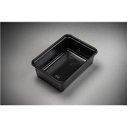 Maaltijdbakken 1000cc Microwave ~ Freeze Zwart 183 x 135 x 63mm