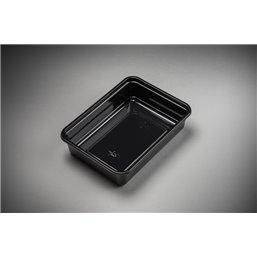 Maaltijdbakken 750cc Microwave ~ Freeze Zwart 183 x 135 x 45mm
