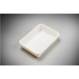 Meal containers - Bins 500cc Microw.~Freeze*® White