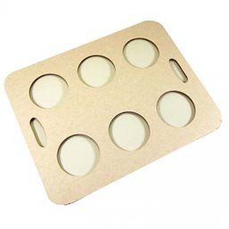 Carrying tray 6 holes Cardboard