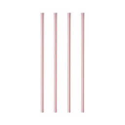 Milkshake Rietje Paper Straight 8mm 20cm Stripe red - white