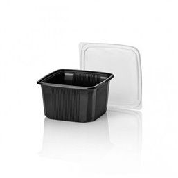 114 Series 500cc trays - containers Square PP Black