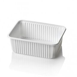 Microwave Meal containers - Bins 180 Series 1000cc Rectangle PP White