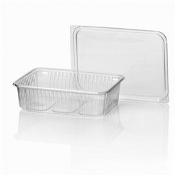 Microwave Meal containers - Bins 180 Series 750cc Rectangle PP Transparent