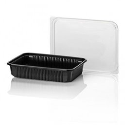 Microwave Meal containers - Bins 180 Series 500cc Rectangle PP Black