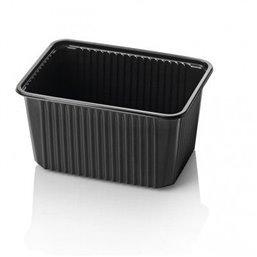 Microwave Meal containers - Bins 180 Series 1500cc Rectangle PP Black
