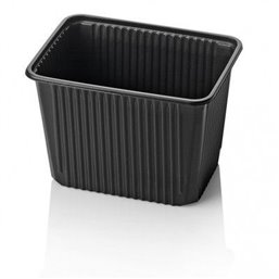 Microwave Meal containers - Bins 180 Series 2000cc Rectangle PP Black